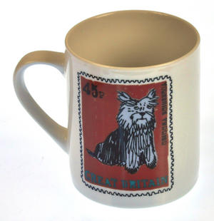 Dorkie - 1st Class Mug - Magpie Mug by Charlotte Farmer - Dachshund & Yorkshire Terrier Thumbnail 4
