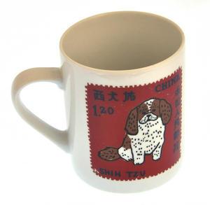 Pom Zhu- 1st Class Mug - Magpie Mug by Charlotte Farmer - Pomeranian & Shih Tzu Thumbnail 1