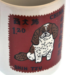 Pom Zhu- 1st Class Mug - Magpie Mug by Charlotte Farmer - Pomeranian & Shih Tzu Thumbnail 3