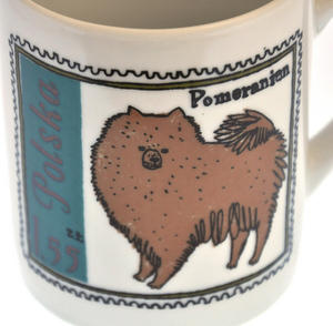 Pom Zhu- 1st Class Mug - Magpie Mug by Charlotte Farmer - Pomeranian & Shih Tzu Thumbnail 4