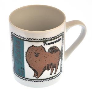 Pom Zhu- 1st Class Mug - Magpie Mug by Charlotte Farmer - Pomeranian & Shih Tzu Thumbnail 5