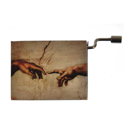 "Art Music Box - Michelangelo ""Creation of Adam"" & Beethoven ""Song of Joy"""