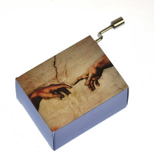"Art Music Box - Michelangelo ""Creation of Adam"" & Beethoven ""Song of Joy"" Thumbnail 7"