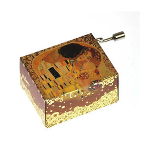 "Art Music Box - Gustav Klimt ""The Kiss / Der Kuss"" & Debussy ""Arabesque"" Thumbnail 1"