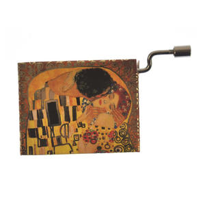 "Art Music Box - Gustav Klimt ""The Kiss / Der Kuss"" & Debussy ""Arabesque"" Thumbnail 7"