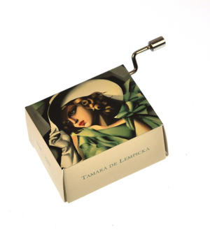 "Art Music Box - Tamara de Lempika ""Young Lady with Gloves"" & ""La vie en rose"" Thumbnail 1"