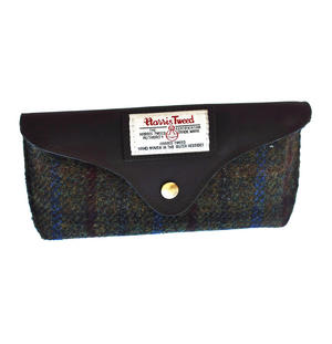 Red / Green Harris Tweed Glasses Case Thumbnail 1