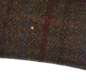 Red / Green Harris Tweed Glasses Case Thumbnail 2