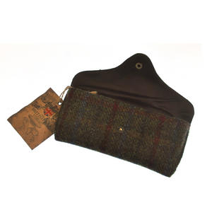 Red / Green Harris Tweed Glasses Case Thumbnail 3