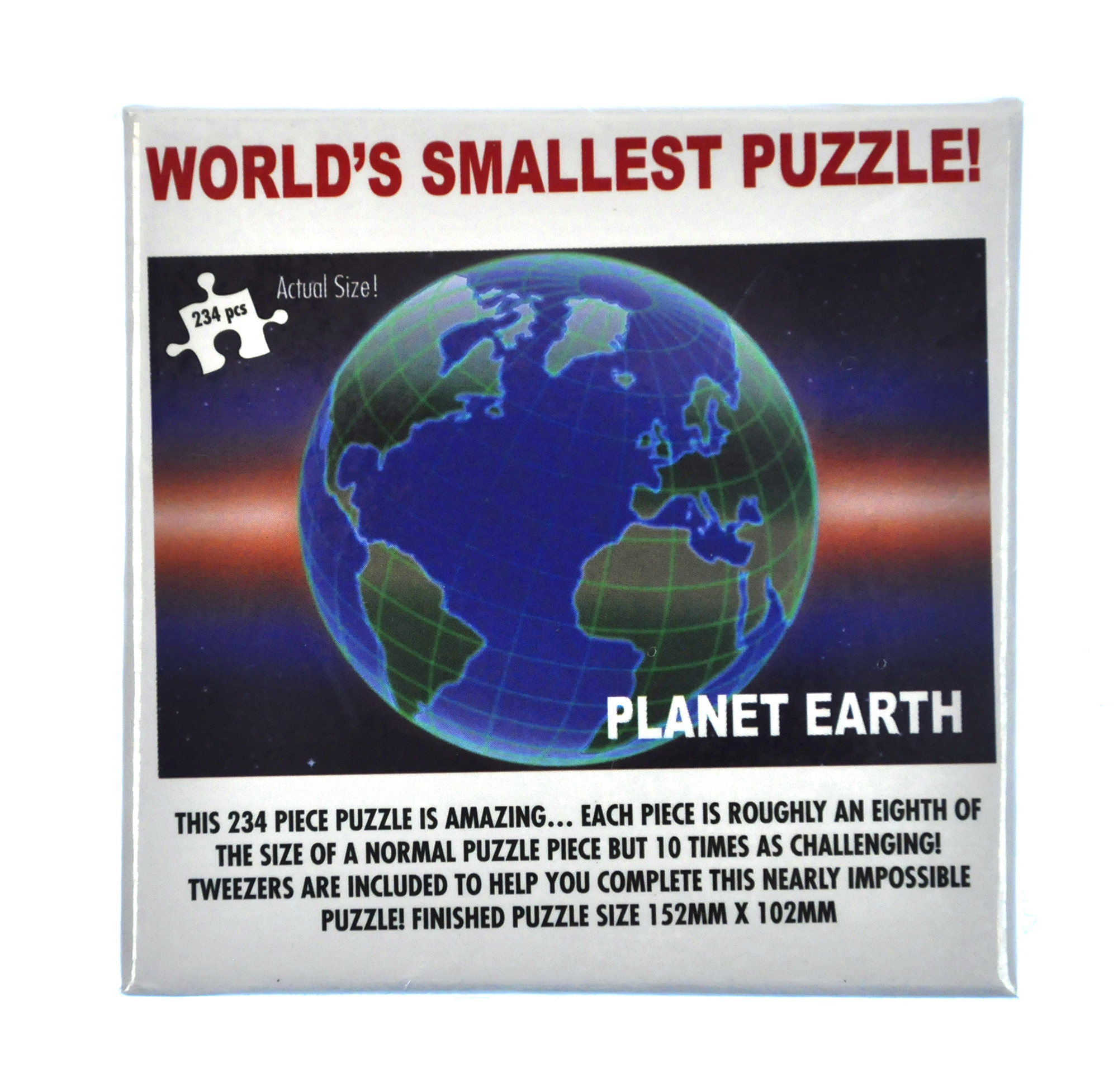 Worlds Smallest Puzzle - Planet Earth - 234pc - 152mm x 102mm / 6\