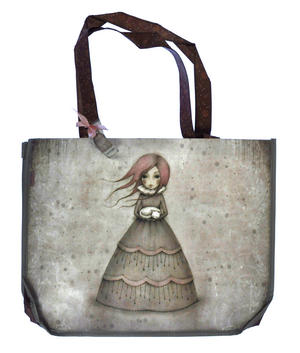 Travellers Rest - Woven Shopper Bag By Gorjuss Thumbnail 5