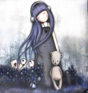 Dear Alice - Woven Shopper Bag By Gorjuss Thumbnail 3