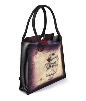 Ladybird - Large Coated Shopper Bag By Gorjuss Thumbnail 2