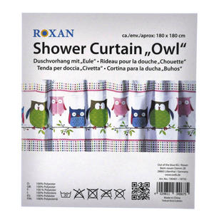 Owls Shower Curtain 180 x 180 cm Thumbnail 4