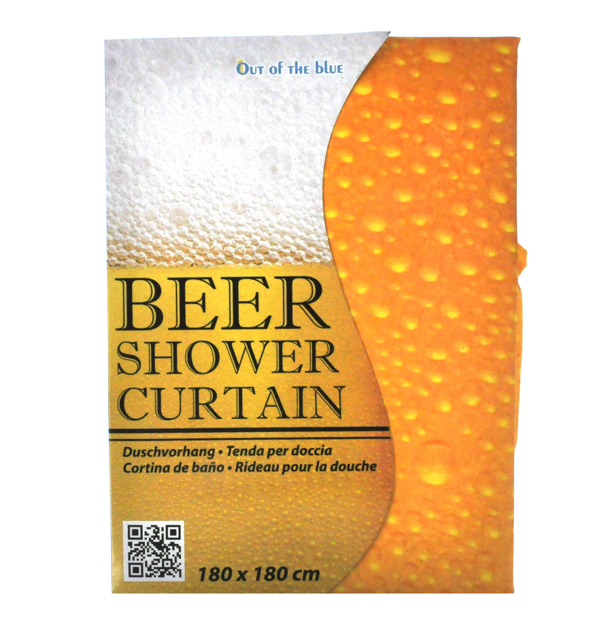 Beer Shower Curtain 180 X Cm Thumbnail 1