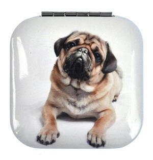 Pug - Square Compact Handbag Mirror