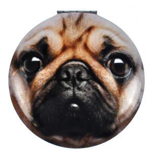 Pug Face - Circular Compact Handbag Mirror Thumbnail 1