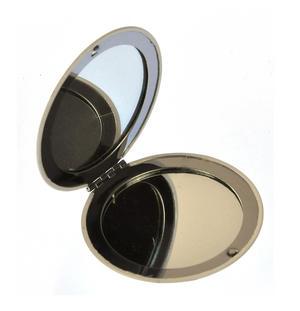 Pug Face - Circular Compact Handbag Mirror Thumbnail 2