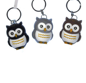 Owl Light Up Hooting Keychain - Random Colours Thumbnail 2