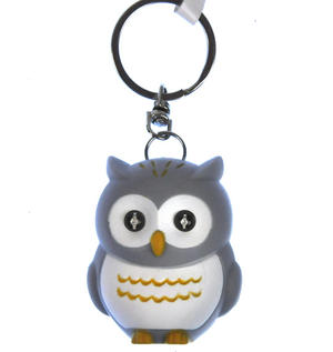 Owl Light Up Hooting Keychain - Random Colours Thumbnail 3