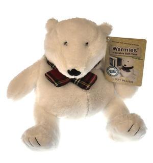 Cozy Plush Polar Bear - Warmies Microwavable Soft Toy Thumbnail 1