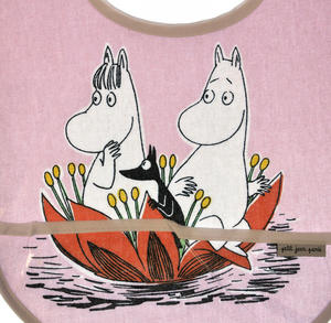 Moomin Bib - Waterlily on Pink Thumbnail 2