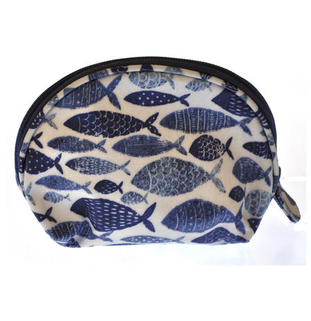 Fish Shoal Half Moon Make Up Bag