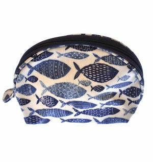 Fish Shoal Half Moon Make Up Bag Thumbnail 2