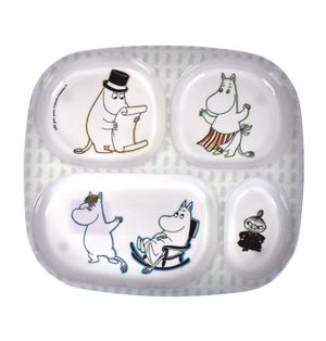 Moomin 4 Compartment Dinner Tray Thumbnail 1