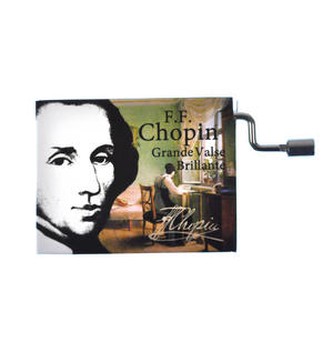 "Chopin in a Box - ""Grande Valse Brillante""  Handcrank Music Box Thumbnail 1"