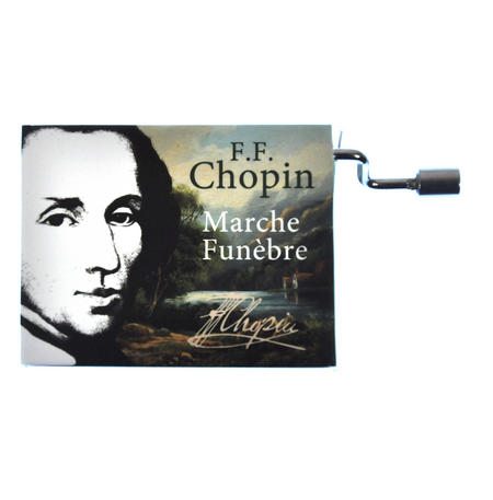 "Chopin in a Box - ""Funeral March"" / ""Marche funèbre""  Handcrank Music Box"