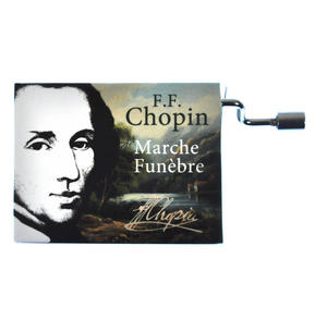 "Chopin in a Box - ""Funeral March"" / ""Marche funèbre""  Handcrank Music Box Thumbnail 1"