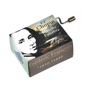 "Chopin in a Box - ""Funeral March"" / ""Marche funèbre""  Handcrank Music Box Thumbnail 2"