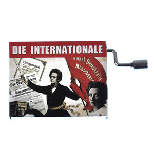 L'International in a Box - Socialist Anthem - Handcrank Music Box Thumbnail 1