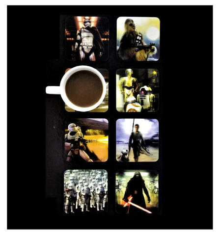 Star Wars 3D Coasters - 8 Different Lenticular Designs
