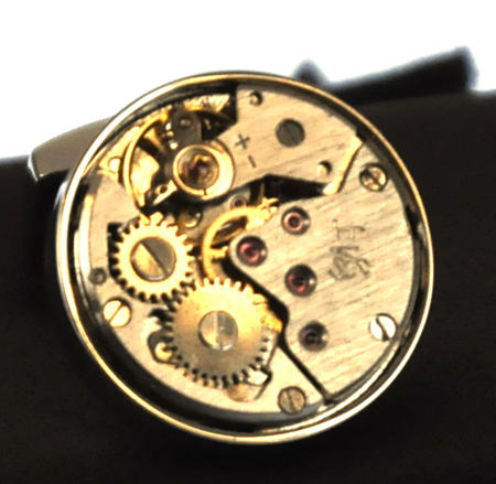Cufflinks - Steampunk Rhodium Watch Movement