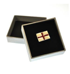 St George Cross Flag Enamel Lapel Pin Thumbnail 1