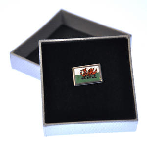 Welsh Dragon Flag Enamel Lapel Pin Thumbnail 1