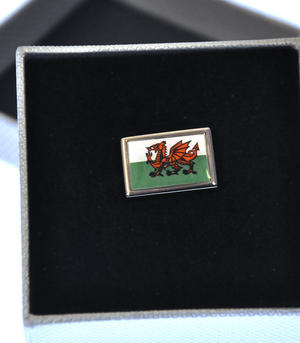 Welsh Dragon Flag Enamel Lapel Pin Thumbnail 2