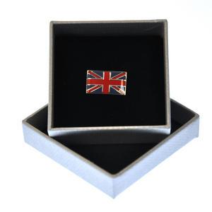 Union Jack British Flag Enamel Lapel Pin Thumbnail 1