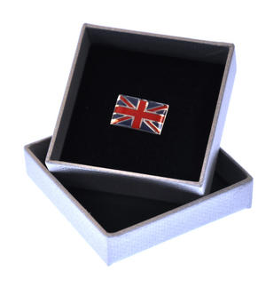 Union Jack British Flag Enamel Lapel Pin Thumbnail 2