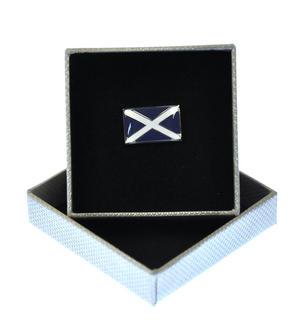 Scottish Saltire  Enamel Lapel Pin Thumbnail 1