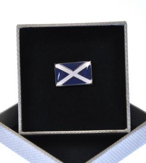 Scottish Saltire  Enamel Lapel Pin Thumbnail 2