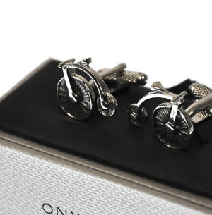 Cufflinks - Penny Farthing Cycle Thumbnail 3