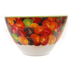 Cherry Tomatoes - Parabolic 22cm Diameter Melamine Bowl Thumbnail 1