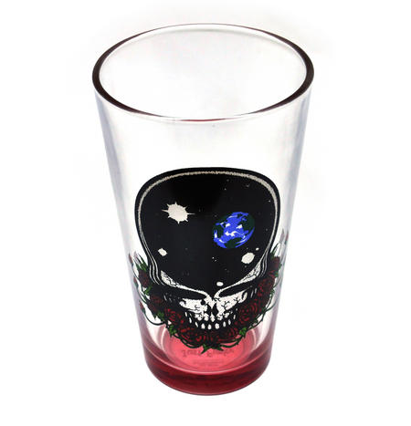 Grateful Dead - The Space Rose Skull Pint Glass