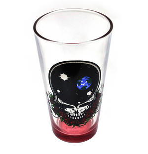 Grateful Dead - The Space Rose Skull Pint Glass Thumbnail 1
