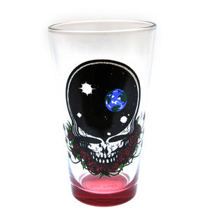 Grateful Dead - The Space Rose Skull Pint Glass Thumbnail 2