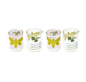 Breaking Bad Moth Set of 4 Shot Glasses Thumbnail 1