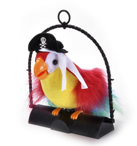 Pirate Pete Sound Activated Repeating Parrot